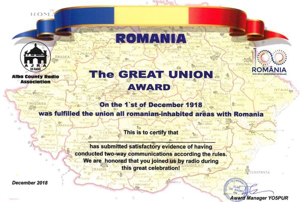The Great Union Award