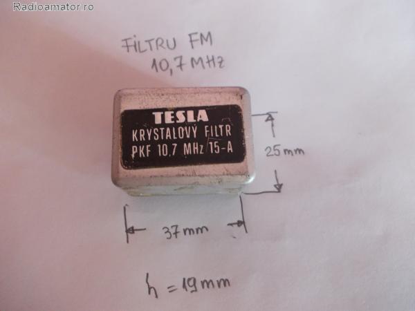 Vand #V-111314 - Filtre quartz 10,7 MHz  - yo9ina.ro
