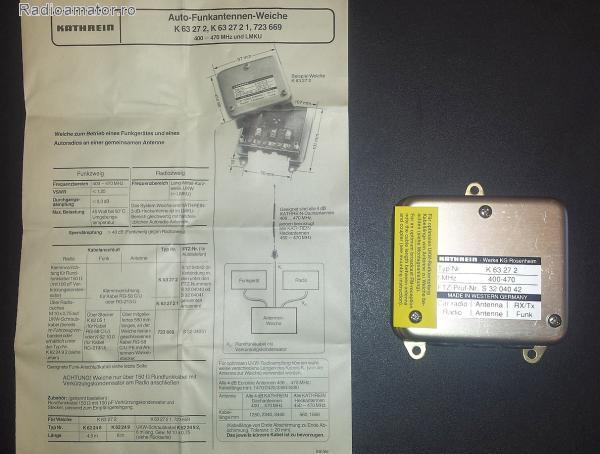 Vand #V-169984 - Splittere KATHREIN UHF + Radio  - yo9ina.ro